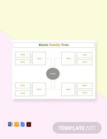 Free Blank Simple family tree Template