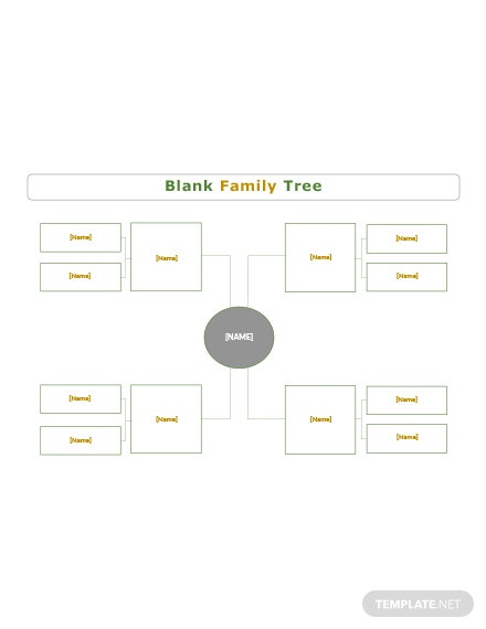 Blank Simple family tree Template