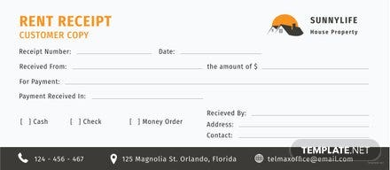 Free House Rent Receipt Template