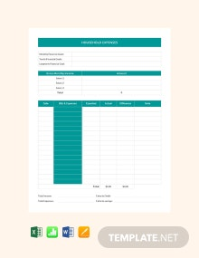 Household Expense Sheet Template