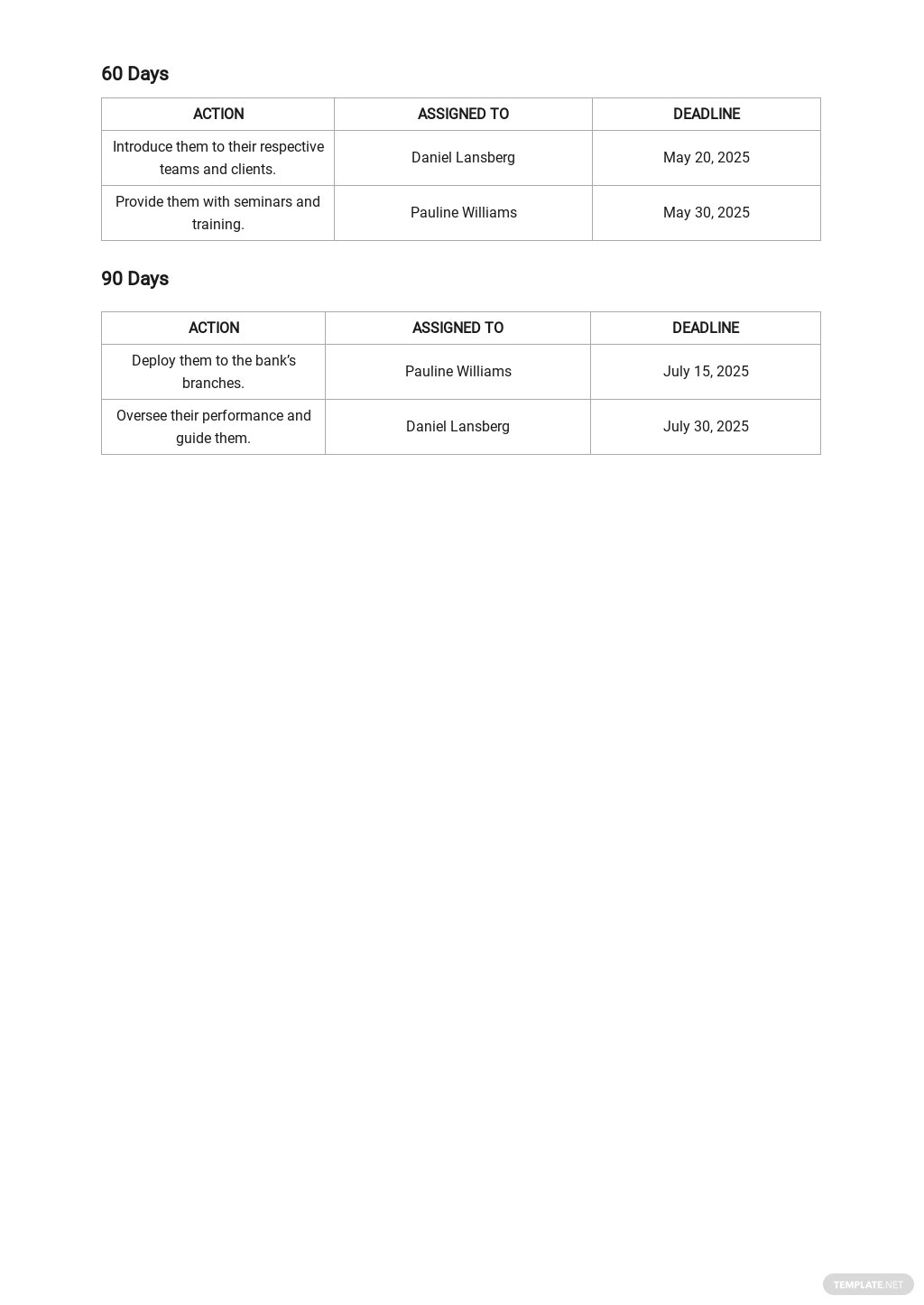 30 60 90 Day Plan for New Bank Managers Template 2.jpe