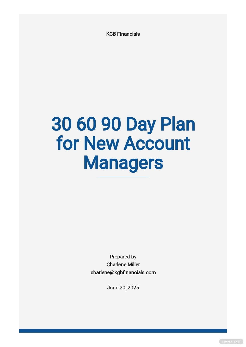 30 60 90 Day Plan for New Account Managers Template.jpe