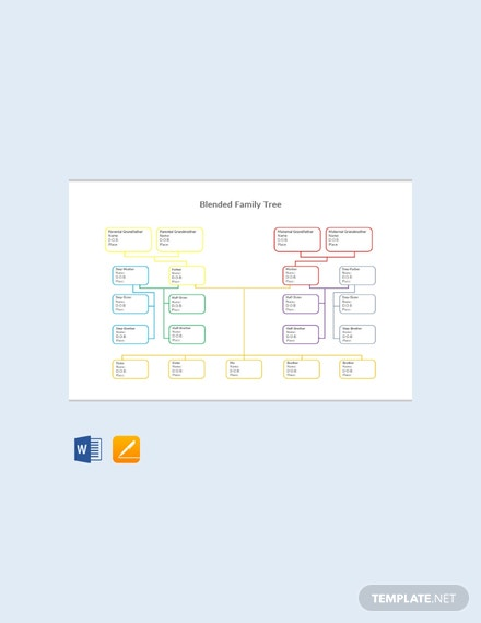 Free Blended Family Tree Template