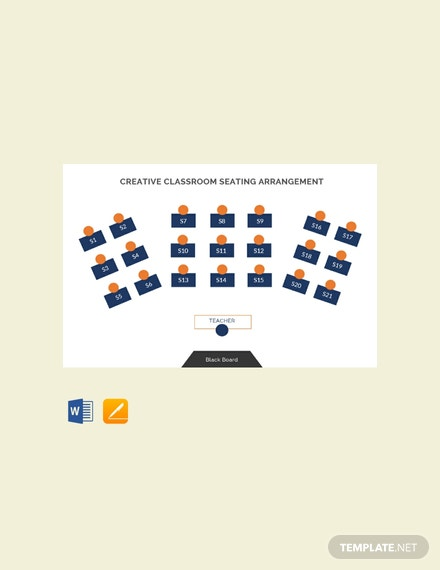 Free Creative Classroom Seating Arrangements Template