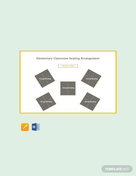 Free Elementary Classroom Seating Arrangements Template