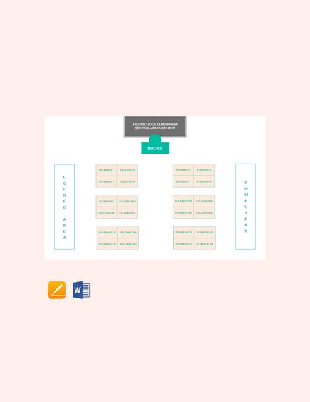 Free High School Classroom Seating Arrangements Template