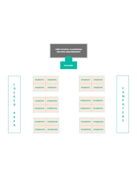 High School Classroom Seating Arrangements Template