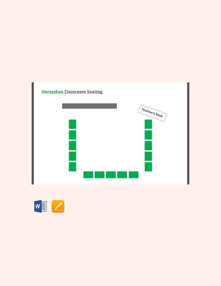 Free Horseshoe Classroom Seating Arrangements Template
