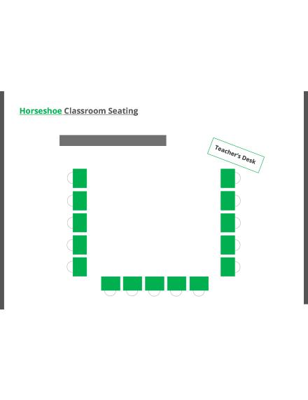 Horseshoe Classroom Seating Arrangements Template