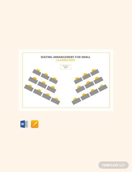 Free Seating Arrangements for Small Classrooms Template