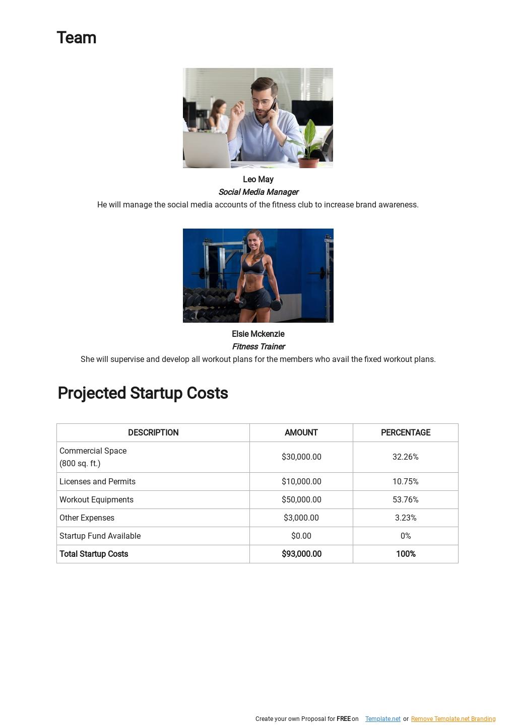 Fitness Club Business Plan Template 3.jpe