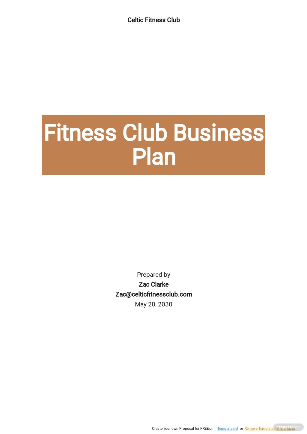 Fitness Club Business Plan Template.jpe