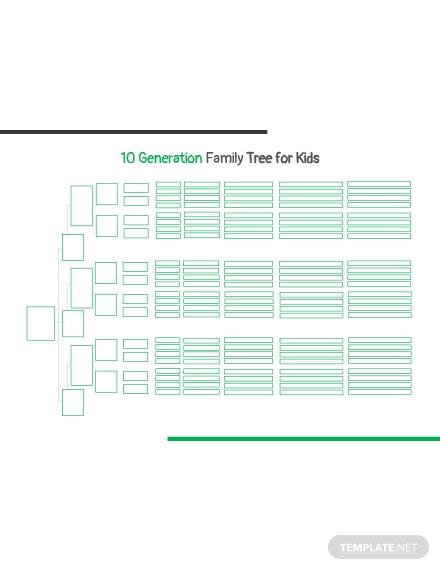 10 Generation Family Tree Template For Kids