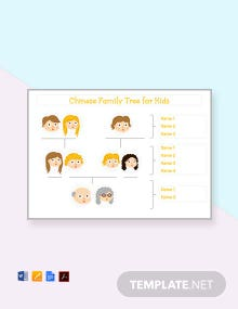 Free Chinese Family Tree Template For Kid's