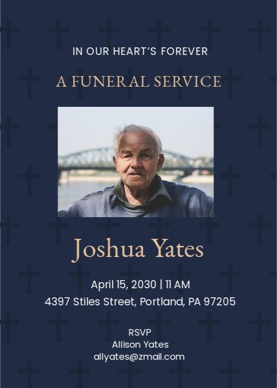 Sample of Funeral Announcement Invitation Template.jpe