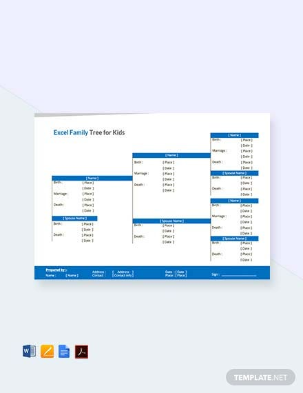 Excel Family Tree Template For Kids