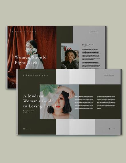 Clean  Elegant Magazine Template Format