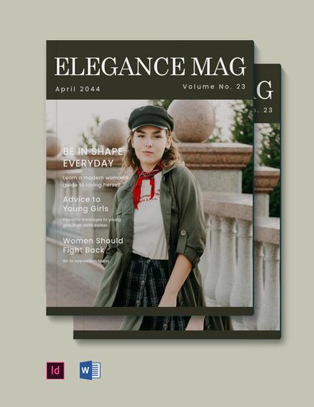 Clean  Elegant Magazine Template