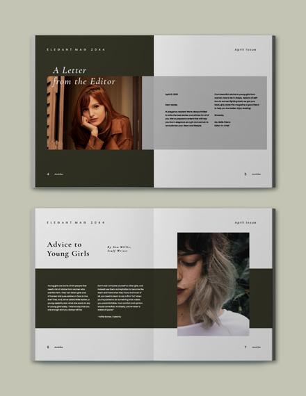Simple Clean  Elegant Magazine Template