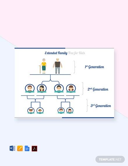 Free Extended Family Tree For Kid's Template