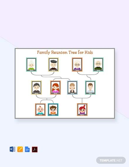 Free Family Reunion Tree Template For Kid's