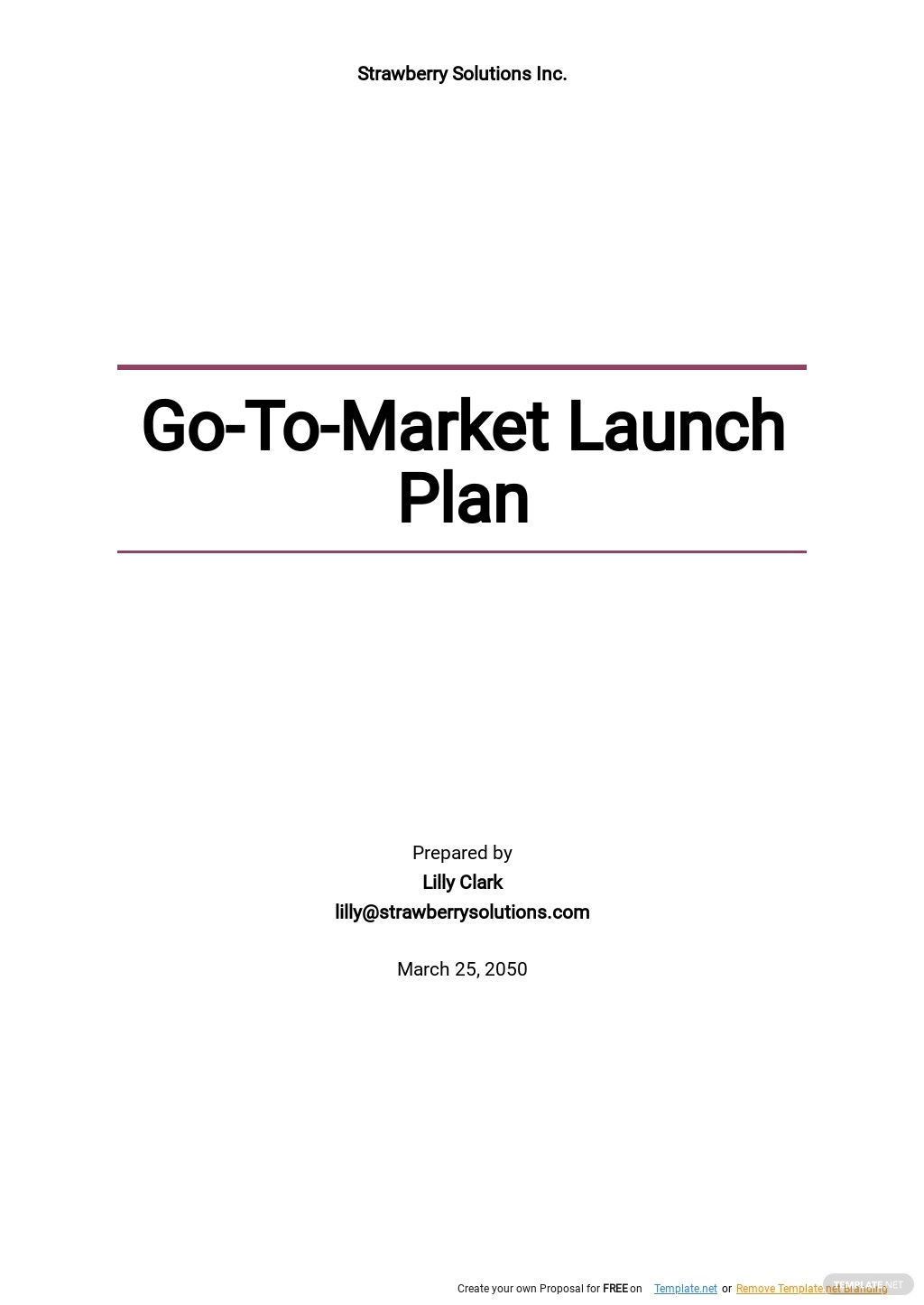 Go To Market Launch Plan Template.jpe