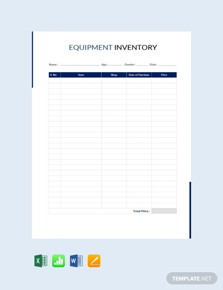 free equipment inventory template in microsoft word excel apple