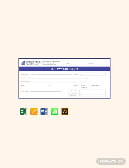 Free Rent Payment Receipt Template