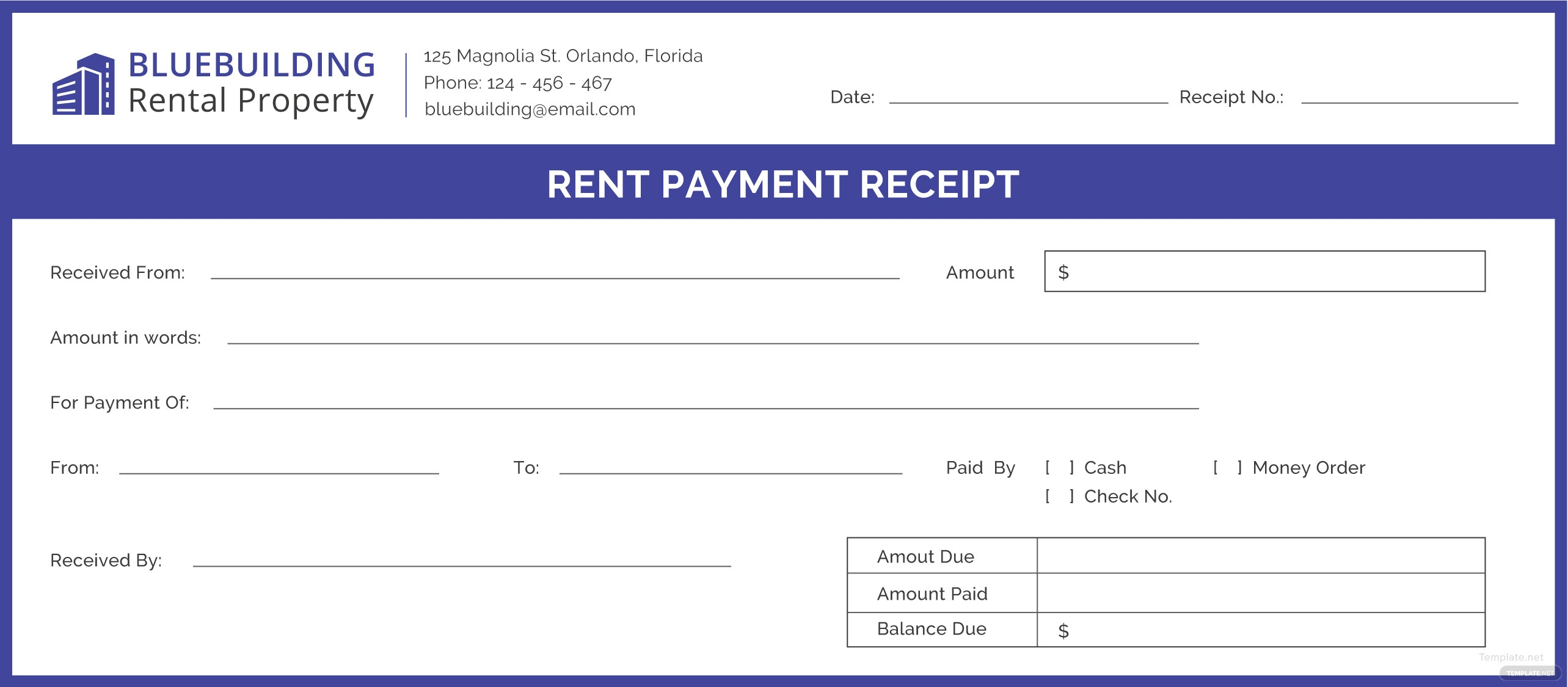 Free Rent Payment Receipt Template In Adobe Illustrator Microsoft - Rent payment receipt template
