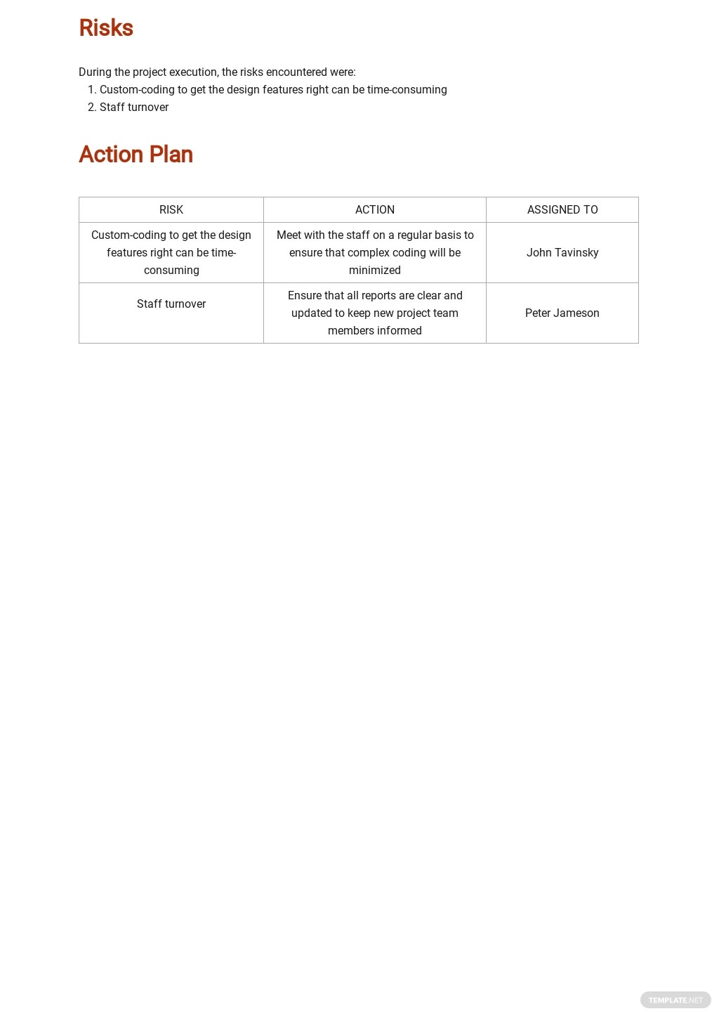 Free Project Management Weekly Status Report Template 2.jpe