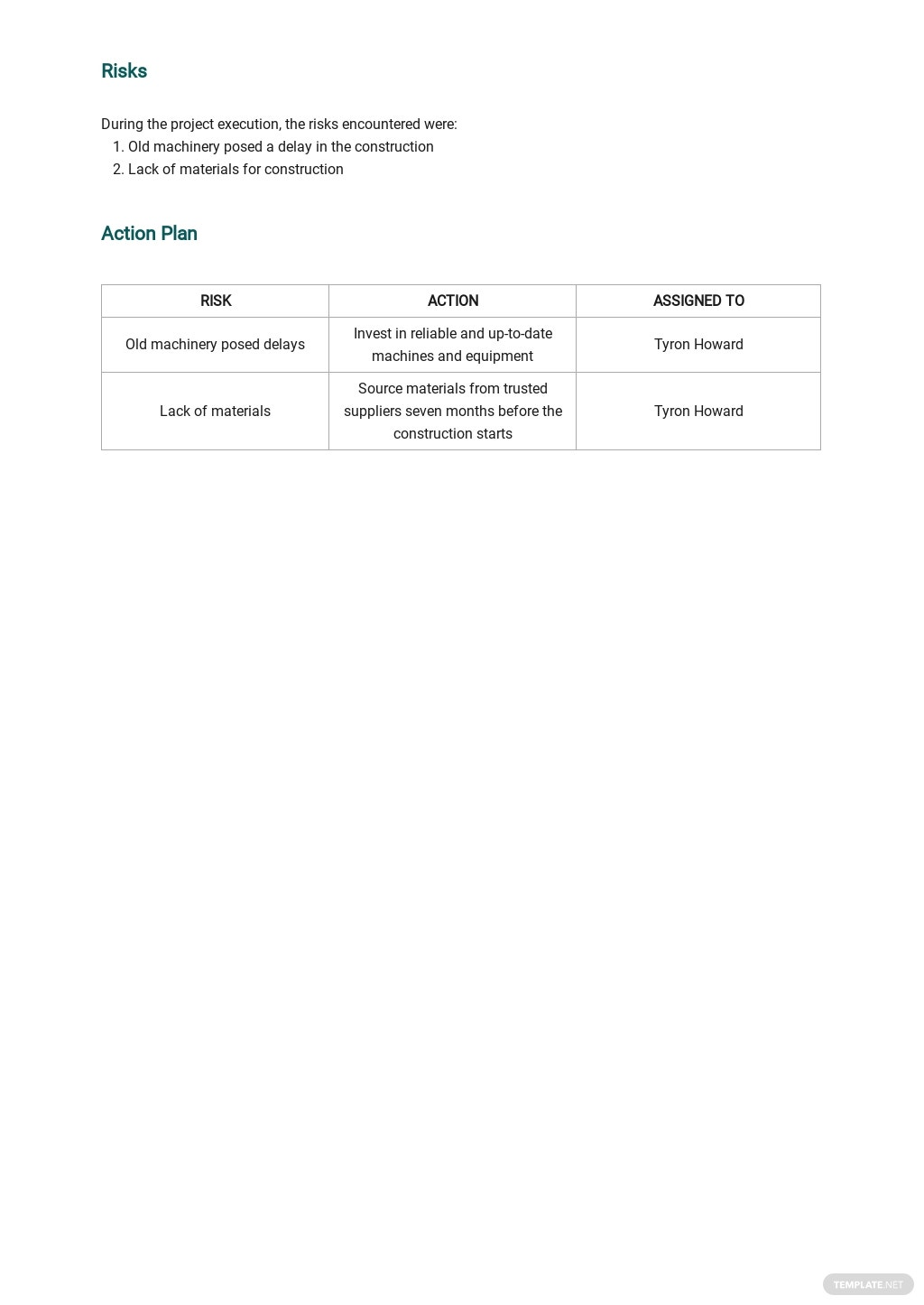 Free Project weekly Status Report Template 2.jpe