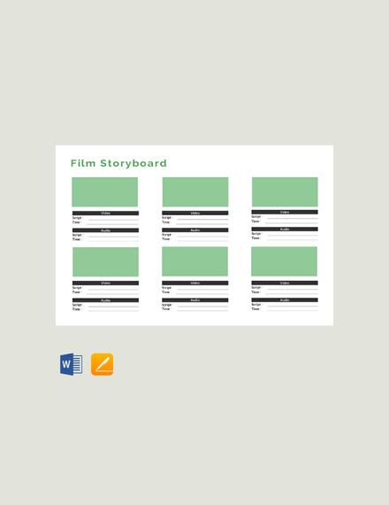 Free Film Storyboard Template