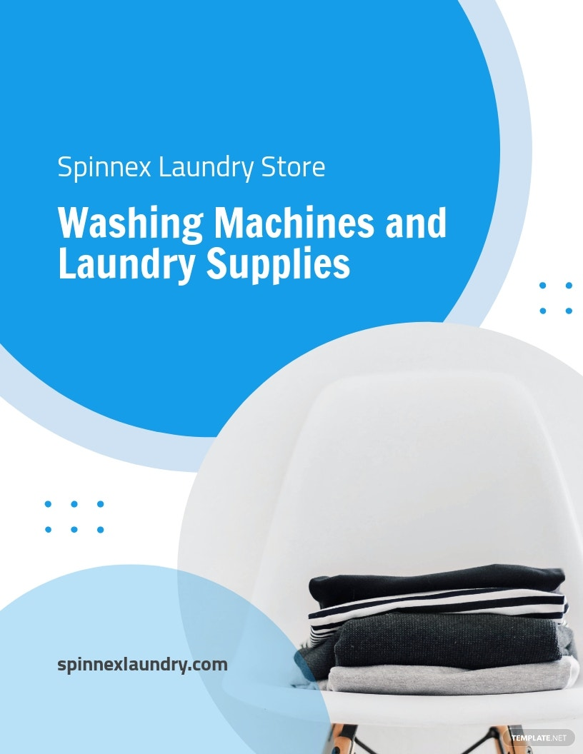 Laundry Store Flyer Template.jpe