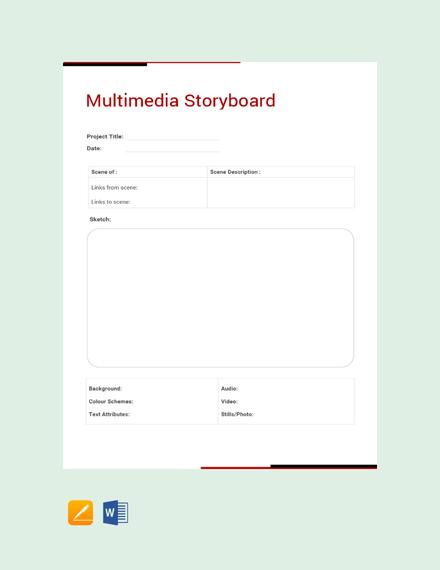 Free Multimedia Storyboard Template