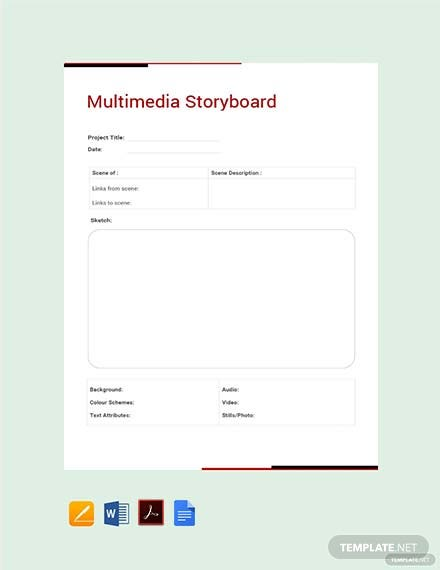 Free Multimedia Storyboard Template