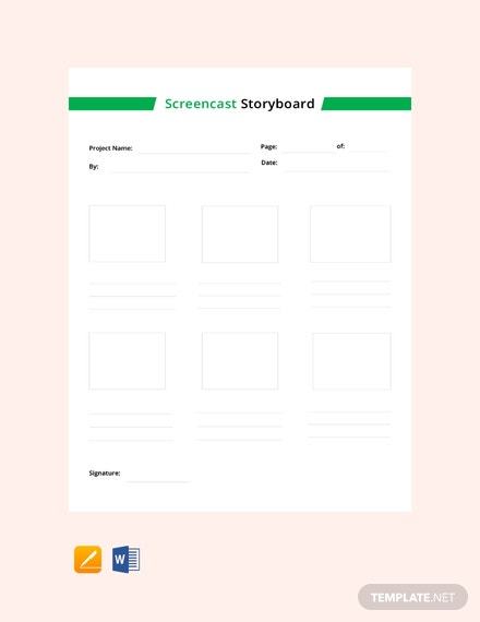 Free Screencast Storyboard Template