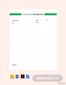 Screencast Storyboard Template