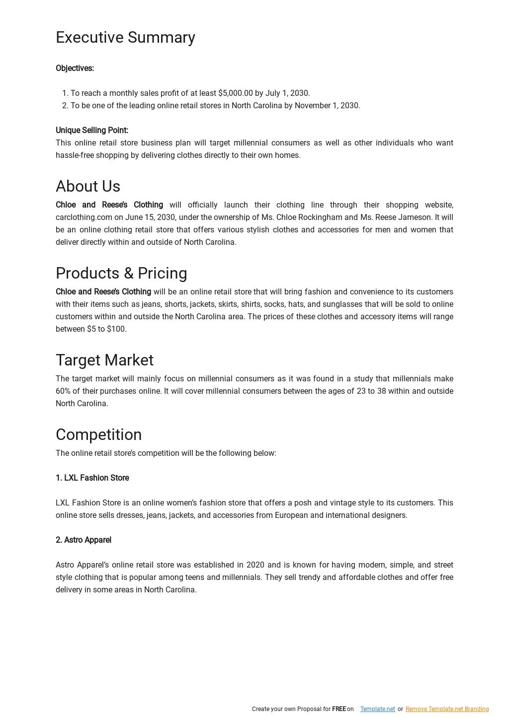 Online Retail Store Business Plan Template 1.jpe