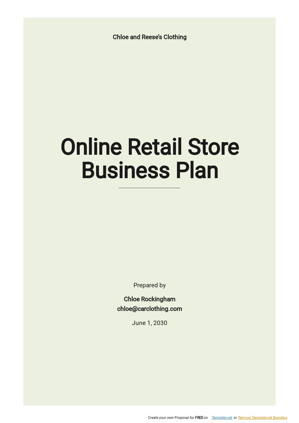 Online Retail Store Business Plan Template.jpe