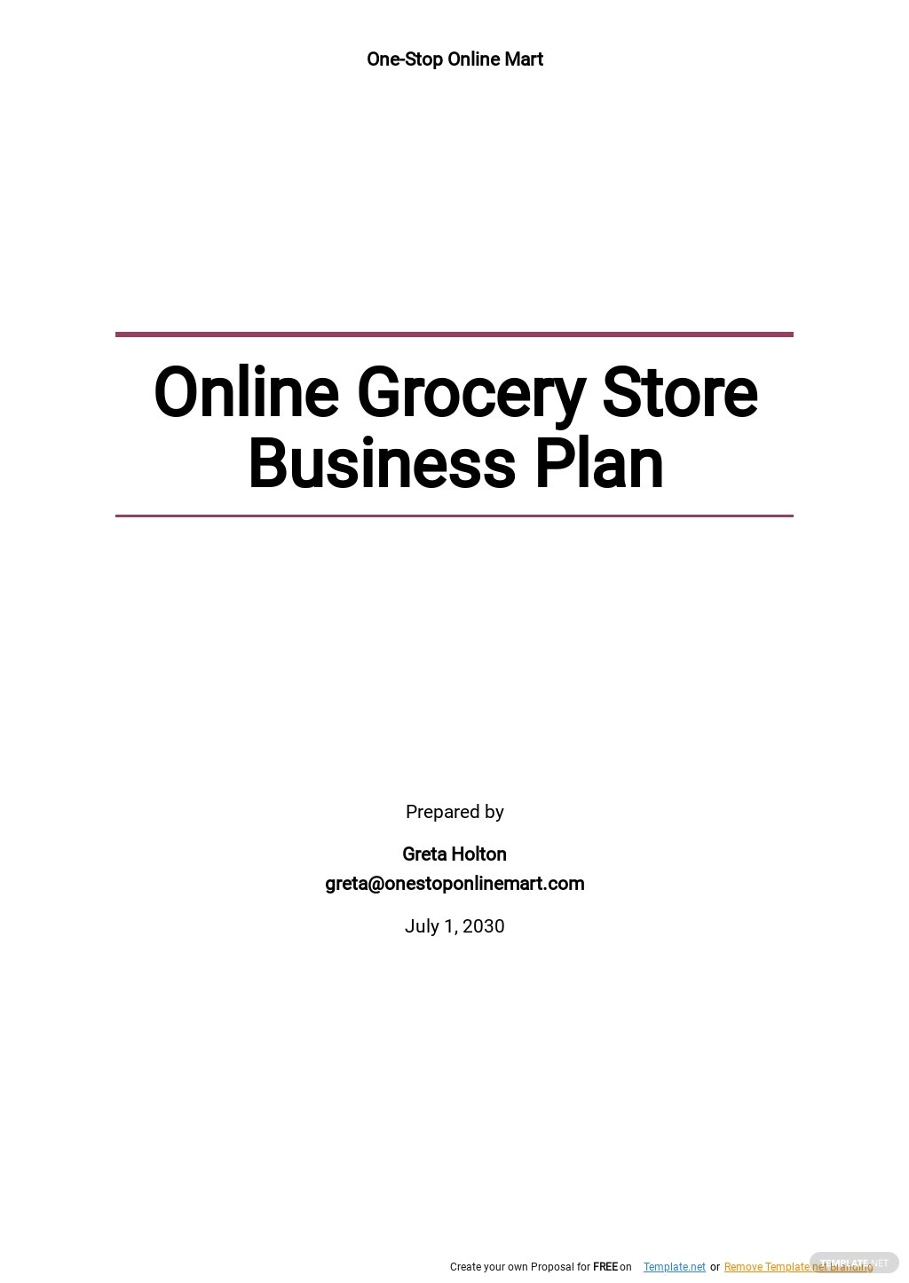 Online Grocery Store Business Plan Template.jpe