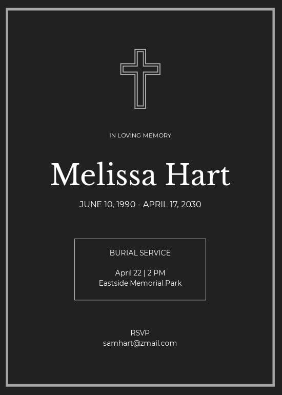 Simple Funeral Burial Invitation Template.jpe
