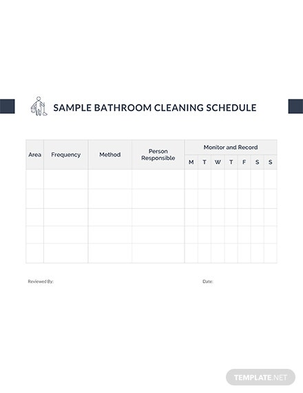 Free Sample Bathroom Cleaning Schedule Template
