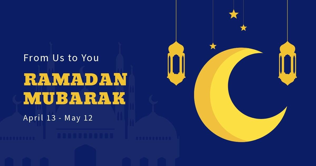 FREE Ramadan Mubarak Facebook Post Template