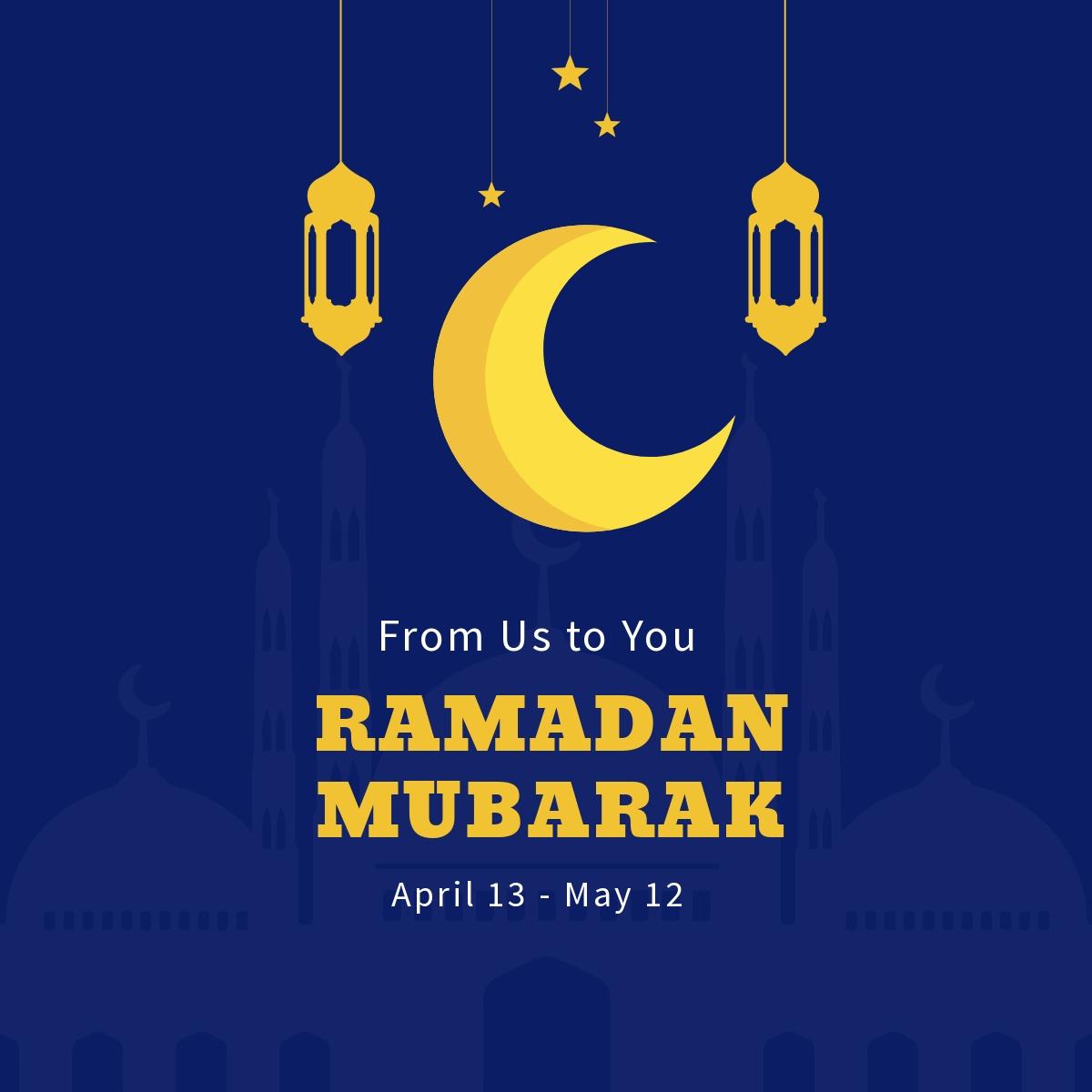 Ramadan Mubarak Linkedin Post Template