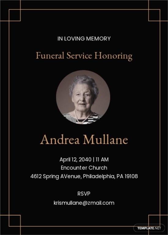 Simple Communication Funeral Invitation Template.jpe