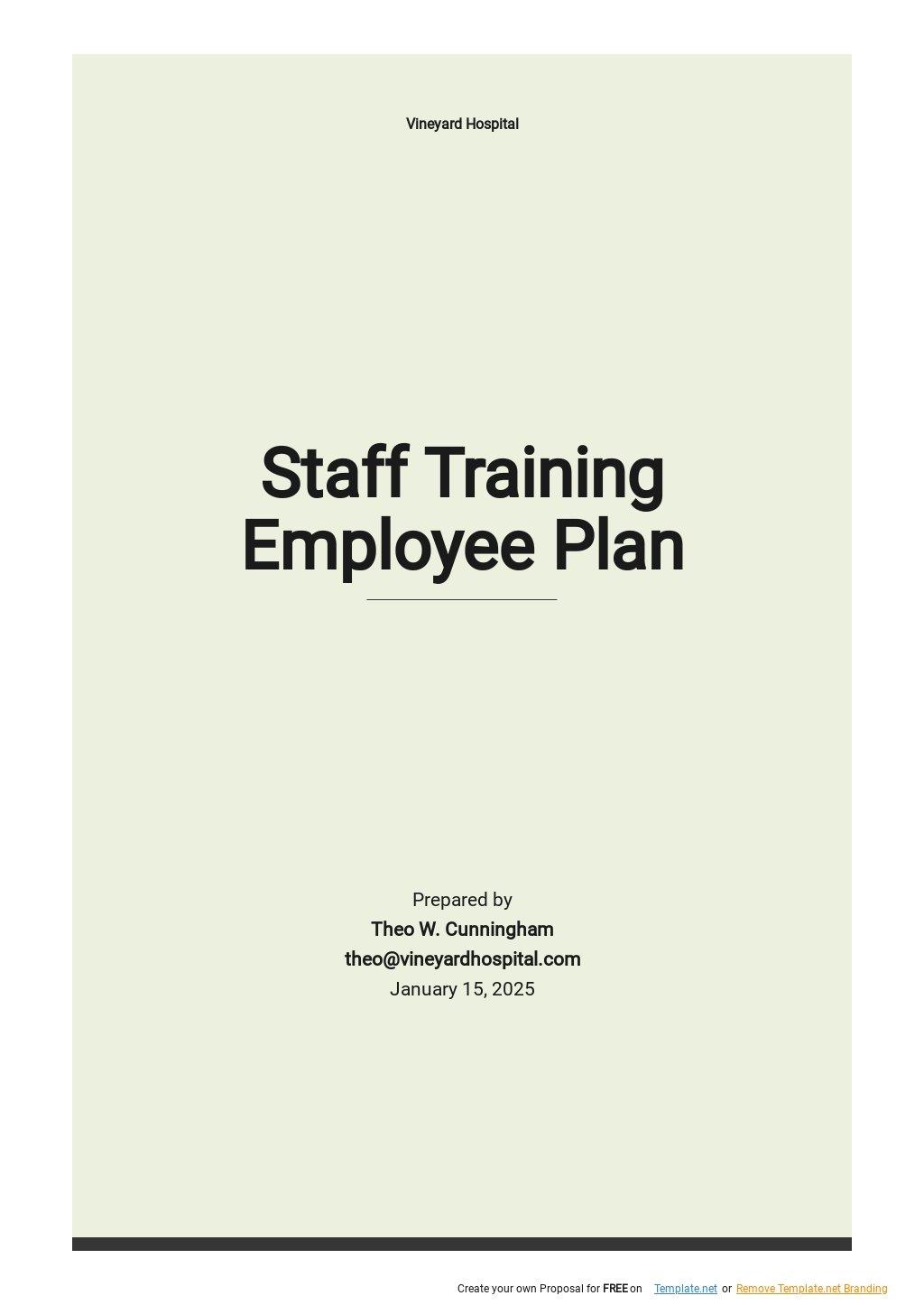 Staff Training Employee Training Plan Template.jpe