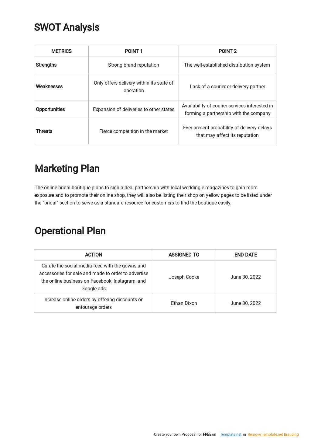 Online Boutique Business Plan Template 2.jpe