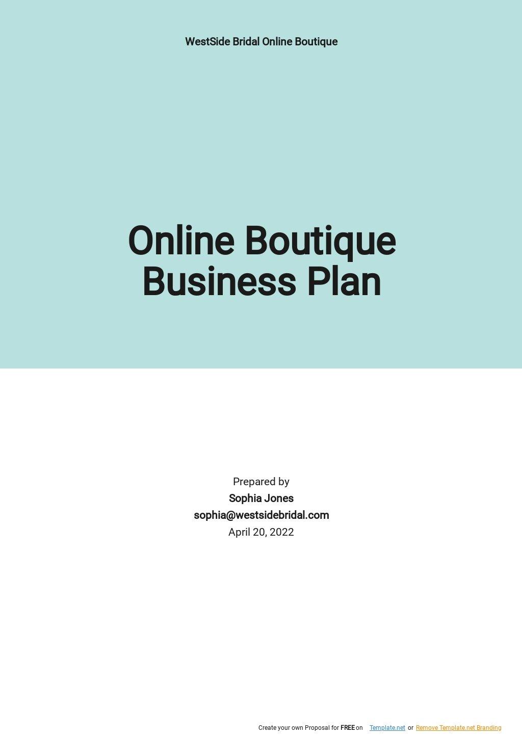 Online Boutique Business Plan Template.jpe