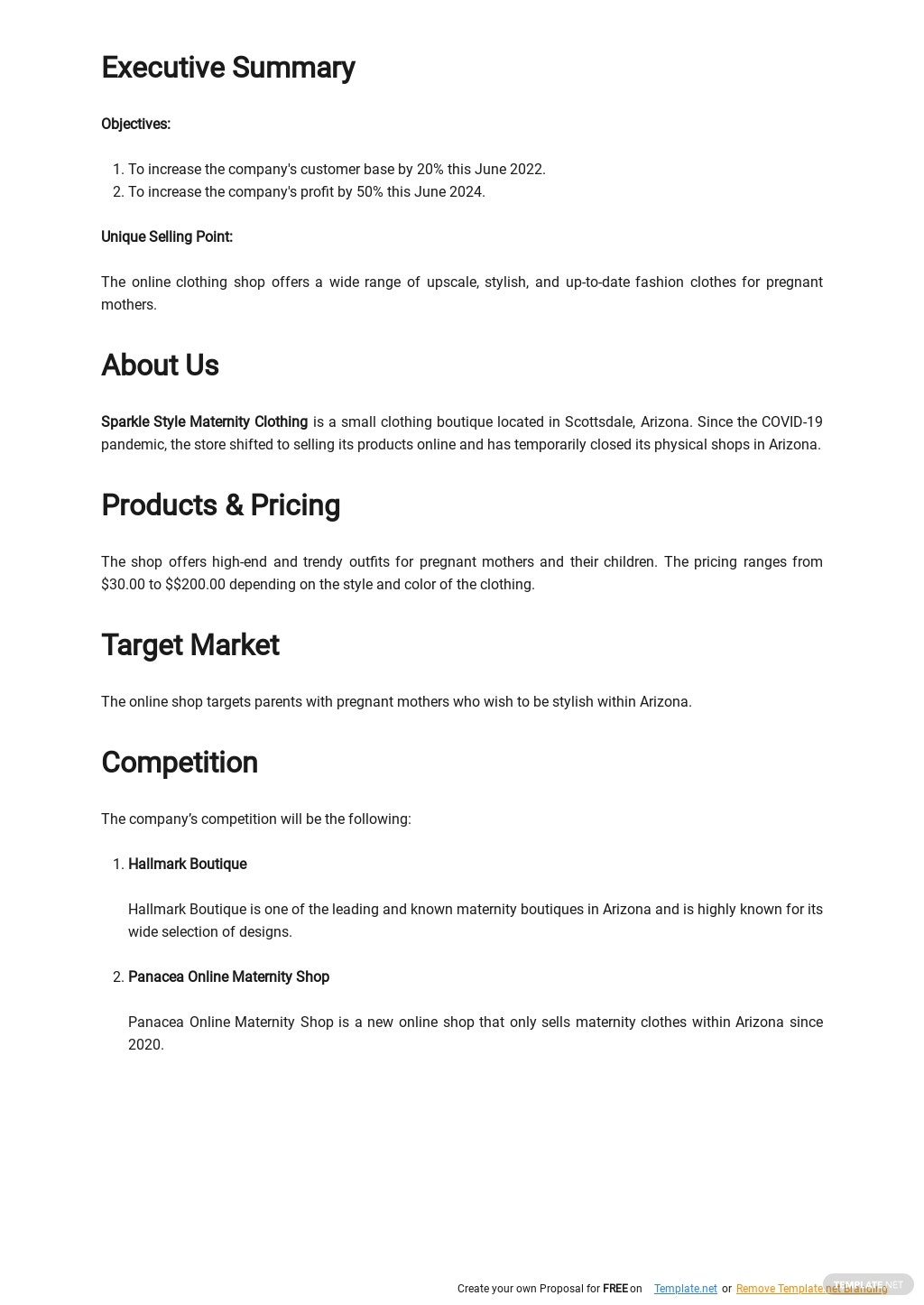 Online Clothing Business Plan Template 1.jpe
