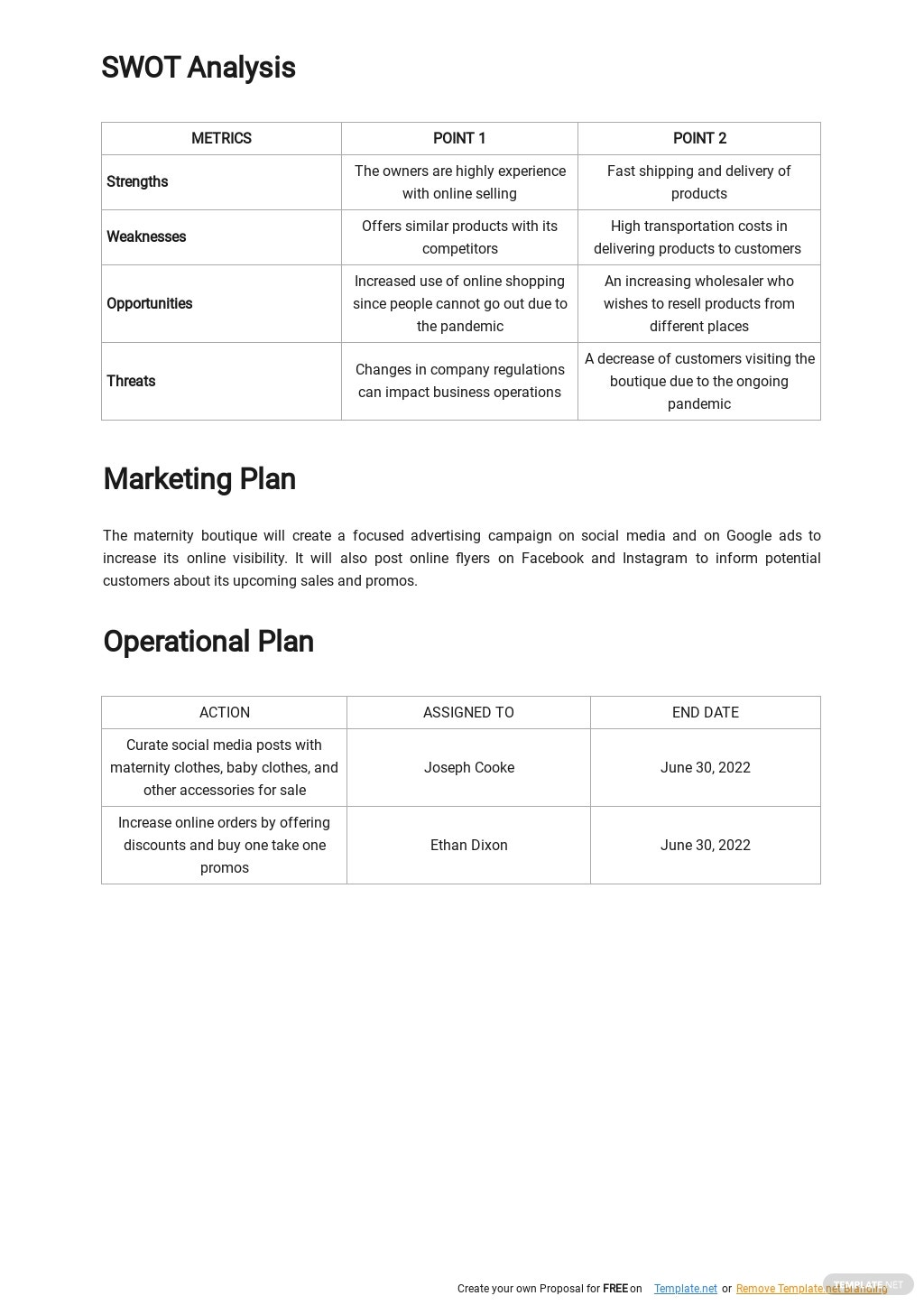 Online Clothing Business Plan Template 2.jpe